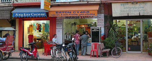 Камбоджа телефон и интернет, интернет-кафе