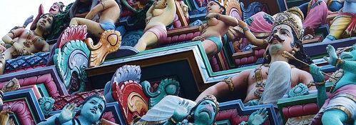 Сингапур Литл Индия Кампонг Глам храм мечеть музей