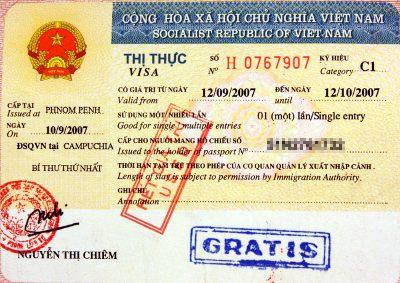 Вьетнам виза