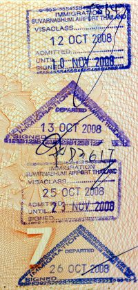 Тайланд штамп виза в аэропорту