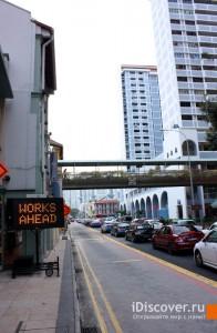 Сингапур. Пробка и полоса общественного транспорта